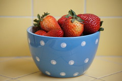 strawberries in a blue cup (Color Land) Tags: blue red color fruit fun yummy sweet strawberries
