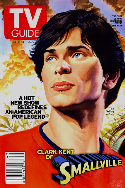 TV Guide Dec 2001 Smallvile - Alex Ross Tom Welling painting