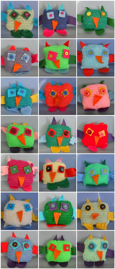 knitting club owls