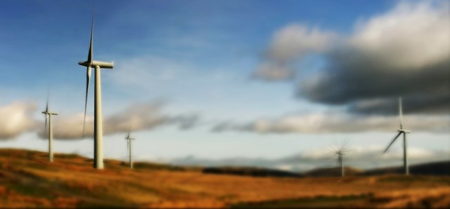 image of windfarm beside m6 motorway n cumbria