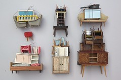 collection of piles (virginhoney) Tags: studio miniature furniture collection tiny sculptures piles frontside dollhouse atelier