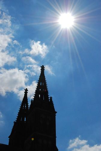 Torres da igreja de São Pedro e Paulo em Vyšehrad