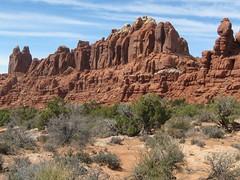 Marching Along (Patricia Henschen) Tags: utah moab archesnationalpark klondikebluffs marchingmen