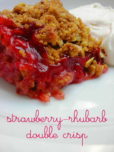 strawberry-rhubarb double crisp