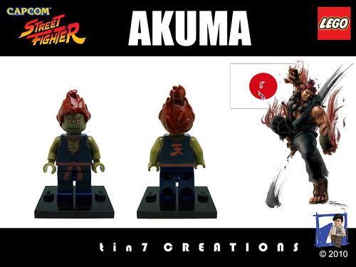 Custom minifig #16 - Akuma