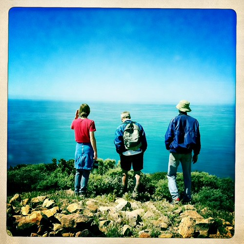 Three strangers and a clear blue sea