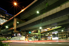 Tanimachi Junction - 01 (Kabacchi) Tags: night tokyo highway  nightview expressway  interchange      jct tanimachijunction ~tanimachijunction~