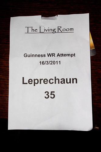 I was leprechaun 35, for my birthday!