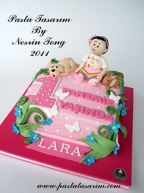 1ST BIRTHDAY CAKE - LARA BIRTHDAY