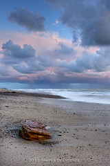 Cotton Candy (Didenze) Tags: pink blue sunset sky beach rock clouds fluffy stormy cottoncandy sanclemente whitewash canon450d didenze