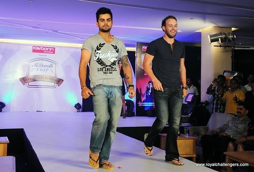 Virat Kohli And AB De Villiers Walk The Ramp