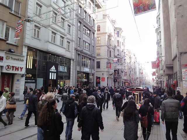 Avenida Istiklal em Istambul