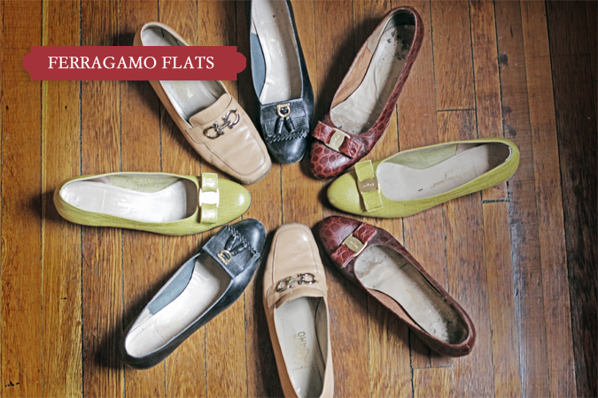 Classic Series on Jenna Sauers on her Ferragamo Flats inspired by Joan Didion