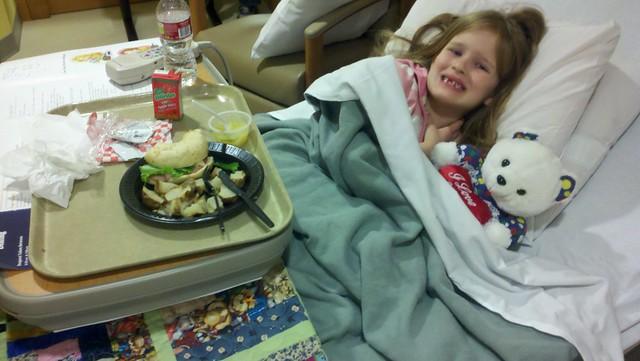 C in hospital