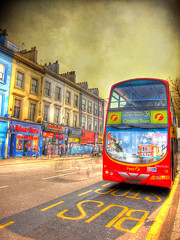 London bus HDR (ZedZap Photos) Tags: bus london busstop camdentown hdr nottinghill doubledecker redbus pembridgeroad zedzap magicunicornverybest