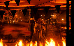 Pyramid Head (~EvidencE~) Tags: carnival monster fire nikon lakeside horror amusementpark evidence villain movieset gears cherrybeach silenthill d300 redpyramid silenthillrevelation3d