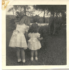 Girls in dresses (Just some dust) Tags: girls martha dresses oldphoto joann littlegirls vintagephoto corpuschristitexas vernacularphoto springdresses