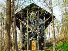 Thorncrown Chapel in the Ozarks (bluerim) Tags: arkansas 1980 ozarks eurekasprings efayjones aiaaward beaverdamak