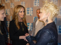 Chely Wright meets Cyndi Lauper at An Evening With Women event