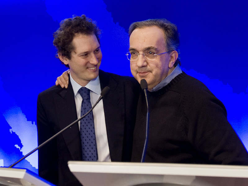 John Elkann and Sergio Marchionne at Fiat 2010 Analyst presentation