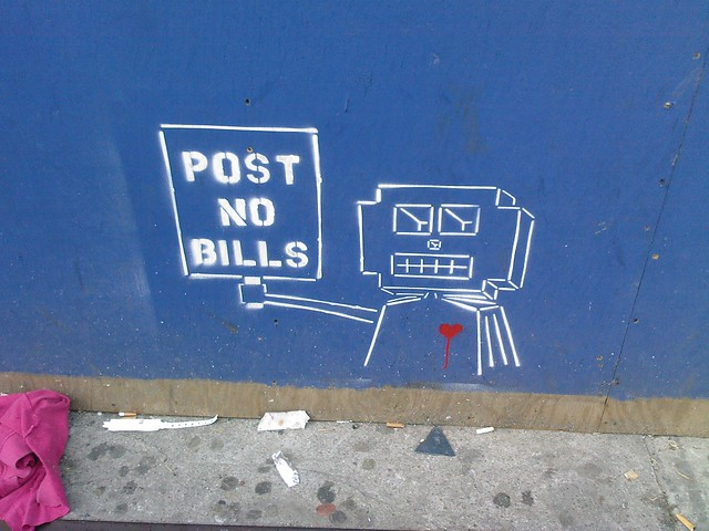post no bills per robot
