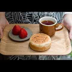 (Masahiro Makino) Tags: morning woman coffee japan female breakfast photoshop canon bread eos japanese strawberry kyoto adobe   tray f18 lightroom ef50mm 60d gettyimagesjapanq2 20110418100857canoneos60dls640p