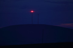 Wind Tower Night Light (blachswan) Tags: night australia victoria redlight windtower gordonhill waubra waubrawindfarm