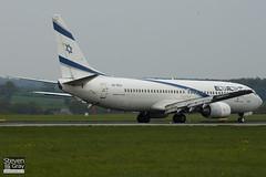4X-EKA - 29957 - El Al Israel Airlines - Boeing 737-858 - Luton - 110418 - Steven Gray - IMG_3968