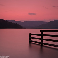 Fence Line (.Brian Kerr Photography.) Tags: longexposure sunset sky lake mountains misty clouds canon fence landscape smooth layers fenceline ullswater howtown eos5dmkii briankerrphotography magicunicornverybest