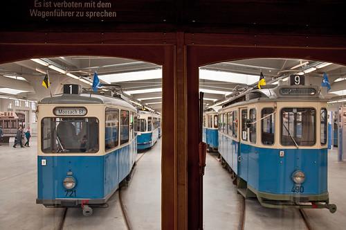 Blick aus dem A-Wagen auf den Heidelberger 721 und den D-Wagen 490