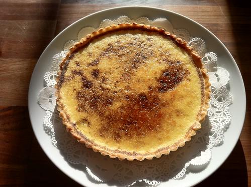 lemon marscapone tart