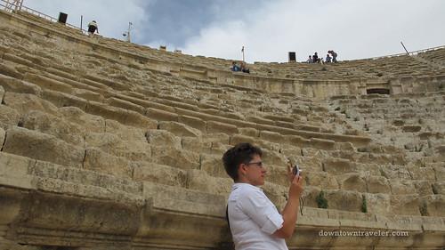 Gerasa ruins in Jerash Jordan