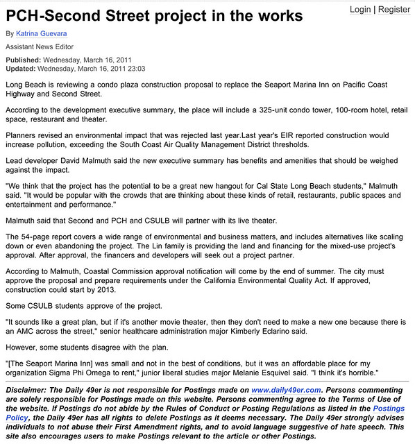 PCH-Second Street project in the works - Daily 49er - News