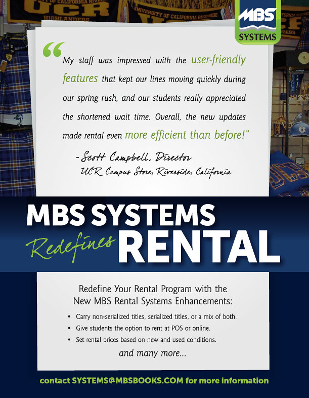 MBS ad in May/June College Store Magazine