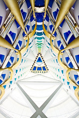 Burj al Arab, Dubai (Scott Norsworthy) Tags: architecture gold hotel al dubai interior balcony united plate lobby emirates fabric arab material luxury 7star burj tensile