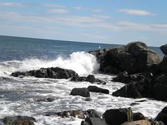 Crashing into the Rocks (AliHanlon) Tags: york lighthouse spring rocks waves maine wells april