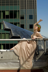 Babylon Revisited (eyenowrite) Tags: skyscraper photoshoot gargoyle midtown ave flapper chryslerbuilding headband roaring20s lexingtonavenue laurenronquillo chryslerradiatorcaps