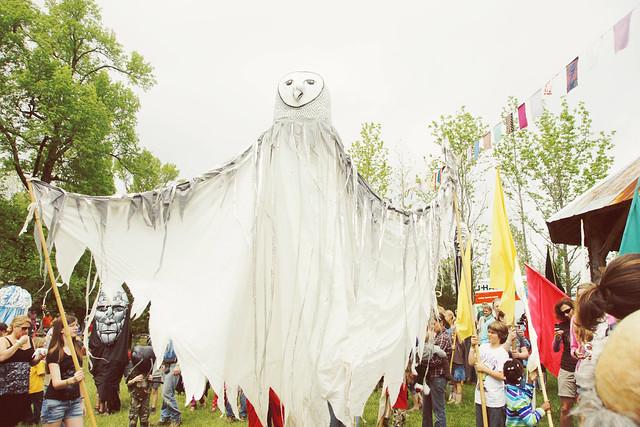 Big Owl Parade Puppet @ Shakori Hills Music Festival