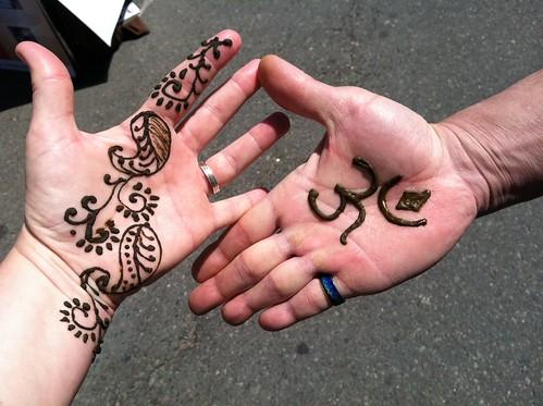freshly henna'd