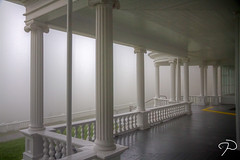 Manor Porch TM 02 (Jim Dollar) Tags: fog canon nc tm blueridgeparkway conemanor jimdollar moseshconememorialpark