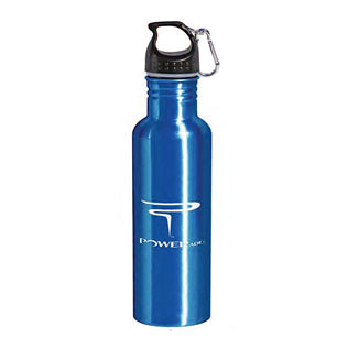 26oz Aluminum Bottle w Carabiner - BPA Free 16077