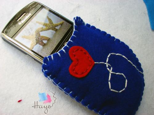 حافظ البلاك بيري أزرق by Hayo.Shop