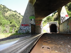 Yep.. (Lurk Daily) Tags: california bridge pez train graffiti bay rude east eastbay cutty antes girafa pryde germs desh cran