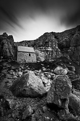 IMG_4496 (Simon J Byrne) Tags: bw cliff white black church saint st stone wales canon big rocks long exposure chapel lee nd 5d filters pembrokeshire tenby 1740 density stopper mkii govans neutral