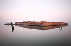 Isola del Lazzaretto Vecchio (briyen) Tags: ocean morning venice italy lake reflection architecture floating lido flickrchallengegroup flickrchallengewinner