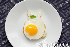 Non-bento #35: Totoro breakfast (AnnaTheRed) Tags: food cute geek egg totoro sunnysideup studioghibli