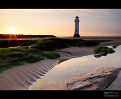 Rippled Creases (H4RSX) Tags: sunset seascape northwales newbrightonlighthouse perchrock