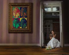 wow!!!!! 80s  2 (EUGENIO SILICEO) Tags: door city white blanco mexico bride model puerta df dress balcony room venezuela jenny style modelo latin frame warhol latina balcon cuarto vestido novia negron