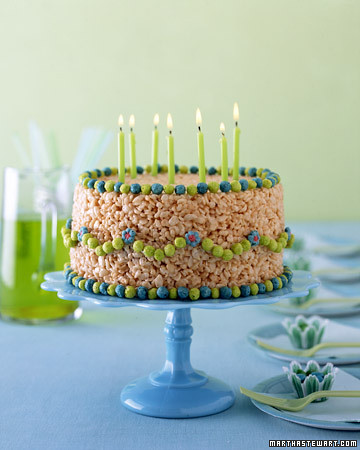 Trix & Krispies Treats cake