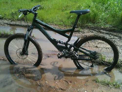 bike in the mud